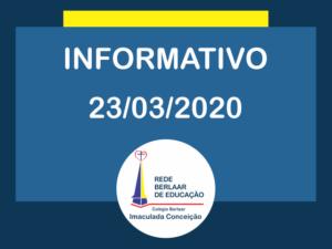 Comunicado 23 de Março de 2020
