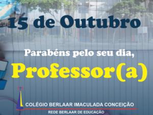 Parabéns pelo seu dia, Professor(a)!