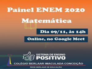 Painel ENEM 2020 – Matemática – 09/11/20 – 14h