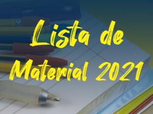 Lista de Material 2021 – Acesse aqui!