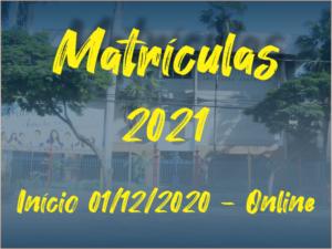 Matrículas Online – Início 01/12/2021